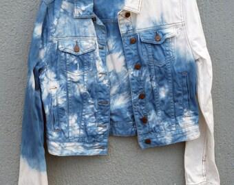 Cotton On Indigo Dyed Shibori Jacket 6