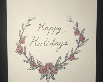 Happy Holidays - art-card