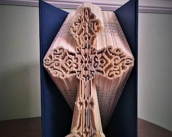 Ornate Cross Book Folding