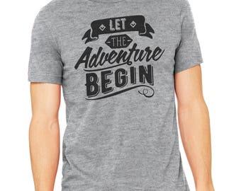 Let the Adventure Begin, Let the Adventure Begin Shirt, Road Trip Shirt, Wanderlust, Wanderlust shirt, Camping, Summer
