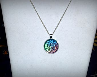 Multi Colored Honeycomb Necklace