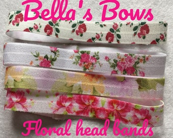 Sets of small  elastic head bands  new born girls
