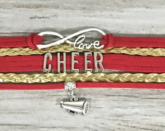 Cheerleading Gift -Cheer Bracelet – Cheer Gift - Cheerleading - Perfect for Cheerleaders, Cheer Coaches & Team Gifts