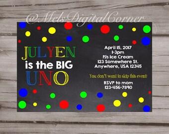Uno Invitation Etsy
