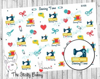 Sewing Time - Planner Stickers for Erin Condren, Happy Planner, Kikkik, Filofax (S105)