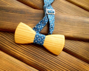 Wood bow tie Holiday bow tie Christmas boyfriend gift Boss holiday gift Wedding Groomsmen tie Wood anniversary gift Graduation gift for him