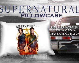 Supernatural Dean Winchester Jensen Ackles Sam Jared Padalecki Pillowcase