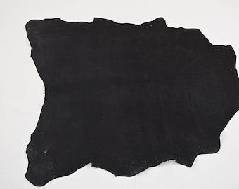 Peau de cuir d'agneau velours noir
