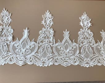 Very white guipure lace wide