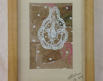 Spanish lace small framed collage