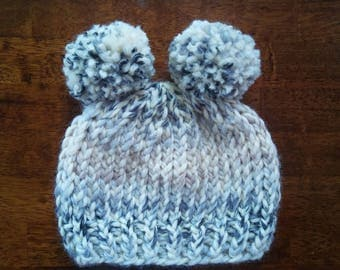 Fuzzy Wuzzy Knit Toddler Hat