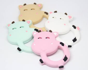 Silicone teething cow / Food grade silicone / Safe for baby