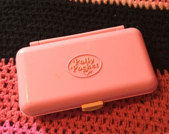 1990 Polly Pocket Bluebird Pencil Case Pink/peach version without figure
