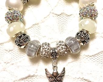 Angel, European Style Charm Bracelet