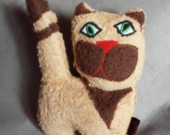 "Cuddly little cat ""David"" fabric towel 20 x 15 cm"