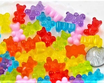 35 Gummy Bear Tiny Soap-Fake Candy Soap-Kids Soap-Animal Soap-Gummi Bear Soap-Party Favor
