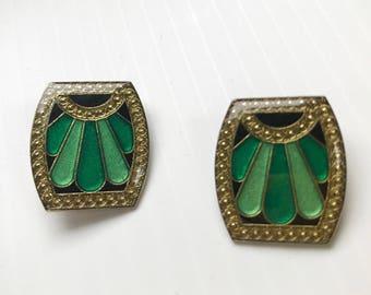 Rare 1980s Art Deco style earrings