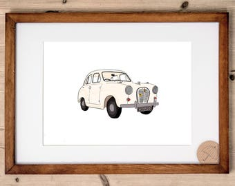 Custom Vehicle Portrait | Custom Car Print | Bespoke Vehicle Illustration | Motorbike Portrait | Bike Drawing | Husband Gift | Dad Gift |