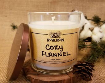 Cozy Flannel 8 oz. Soy Candle