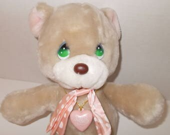 Precious Moments Plush Bear 1985, Item #4560 Samuel J. Butcher/ 13 inch