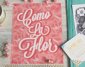 Selena Quintanilla - Como La Flor - La Reina- Selena Art - Selena Quintanilla Poster - Selena Prints - Chicana - Latinx - Flor - Mexicana