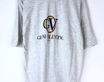 Rare!!! Vintage Gianni Valentino Tshirt GV Spellout Big Logo Tshirt