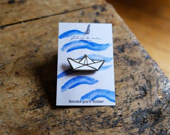 "Pin badges ""Sailboat"""
