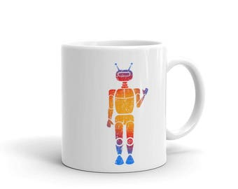 Robot Builder Coffee Mug  Robotics Engineer Love Science made in the USA
