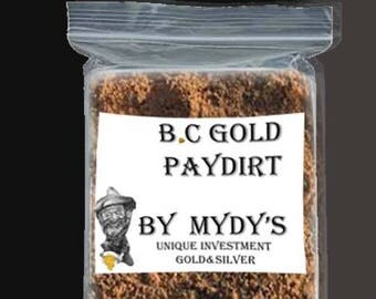 1/4 Lbs Gold Paydirt Unsearched and 100% Added GOLD! Panning Nuggets (#A091)