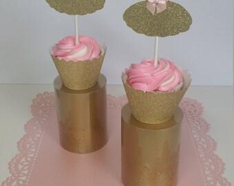 12 Ballerina Cupcake Toppers, Ballerina Dress, Ballerina Decoration, Ballerina Cupcake Toppers, Party Decoration
