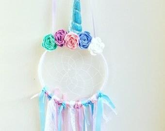 Unicorn dreamcatchers with felt flower crown