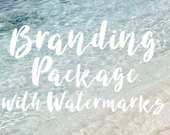 Custom Logo Design Package, Branding Package with Logo, Watermarks, Banner, Avatar and Business Card, Marketing Package, Photographer Logos