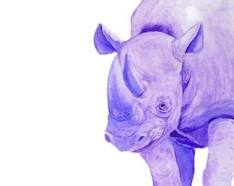 Safari Animals, Rhino Art, Watercolor Animals, African Safari, Rhino, Safari Art, African Animals, Safari Decor, Wild Animals, Rhinoceros