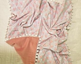 Little Birds Swaddle Flannel Blanket