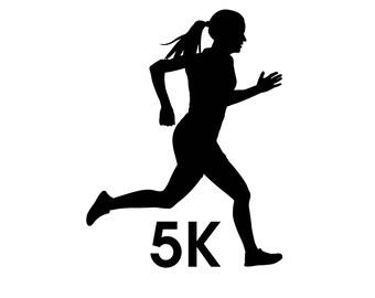 Woman Runner Decal