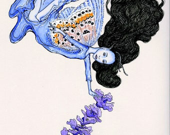 A5 Print (Lavender Blue Fairy)