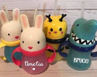 Easter Sippy Cups! Personalized Toddler Cups!