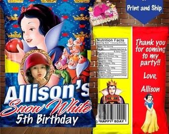 Custom chip bag-treat bag-party favor-DIGITAL FILE-You Print
