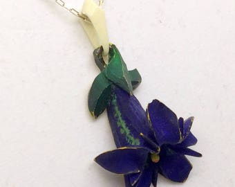 sterling silver carved celluloid  necklace  #225