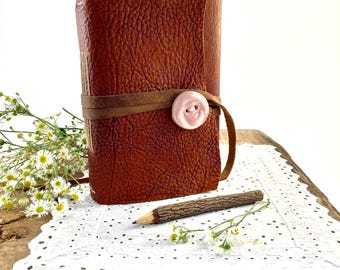 Personalized Leather Journal for Her, Personalized Women's Leather Journal, 3rd Anniversary gift, Leather Journal for Wife