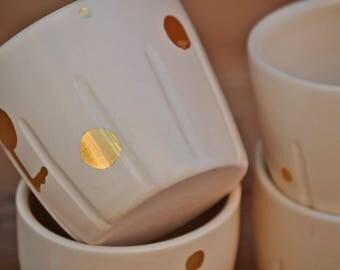 glass ceramic gold specks