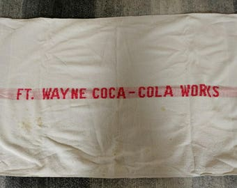 Large Vintage Coca-Cola Advertising Towels for Ft. Wayne Coca-Cola Works