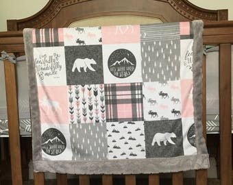 I Am Fearfully and Wonderfully Made Mink Baby Blanket-Ready To Ship