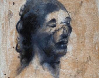 Victim Catherine Eddowes - Hand sketch with graphite