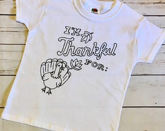 Thanksgiving Coloring Shirt