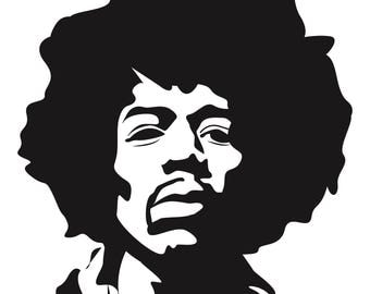 Jimi Hendrix graphic print | music poster | art | modern |  black and white