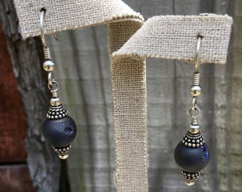 Sterling Blue Quartz Earrings
