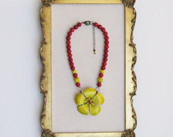 Honking Big Yellow Bloom Necklace