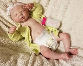 Reborn Baby Maggie, Full Body, Custom Order, Anatomically Correct Full Body, 6-8 week ship time