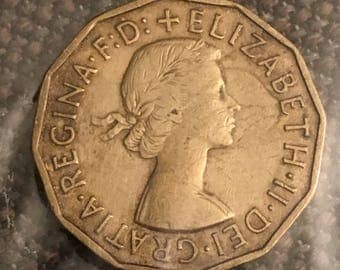 1956 Great Britain 3 pence